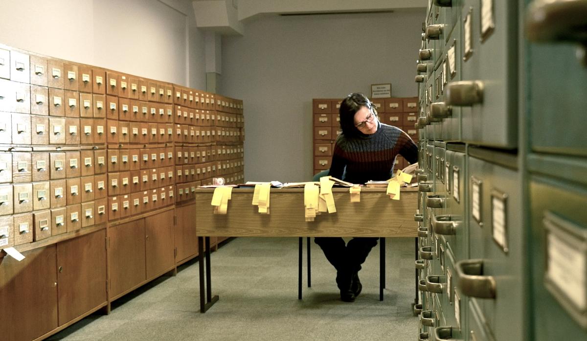 Bundesarchiv mit Autorin